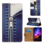 Pattern Printing PU Leather Wallet Stand Case for Huawei Mate 30 Lite – Zipper