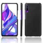 KSQ Crazy Horse Texture PU Leather Coated PC Protective Case for Huawei Honor 9X/9X Pro – Black