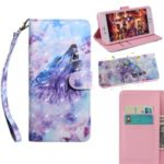Printing Style Light Spot Decor Leather Wallet Phone Cover for Huawei Honor 9X Pro / Honor 9X – Wolf
