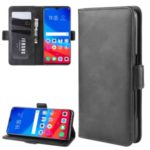 Magnet Adsorption Leather Stand Back Wallet Phone Cover Case for OPPO F9 / F9 Pro / Realme 2 Pro / A7x  – Black
