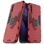 Cool Guard Ring Holder Kickstand PC TPU Hybrid Case for vivo iQOO Neo – Red