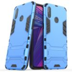 Plastic + TPU Hybrid Case with Kickstand Phone Shell for Oppo Realme 3 RMX1825, RMX1821 – Baby Blue