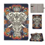 Universal PU Leather + TPU Flip Tablet Cover for Samsung Tab E 9.6 / iPad Air 2- Elephant