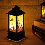 Creative Halloween Decoration Hanging Light Lantern Flame Lamp for Home Bar School Decor – Castle Pattern