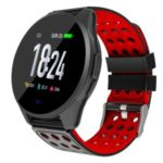 LEMONDA CK20S 1.3-inch Carbon Fiber Round Smart Bracelet Wristband – Red