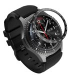 Stylish Metal Watch Frame for Samsung Gear S3 Frontier – Black/White