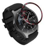 Metal Watch Frame for Samsung Gear S3 Frontier – Black/Red