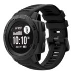 Silicone Watch Band Strap Replacement for Garmin Instinct – Black