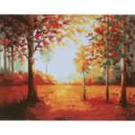 Frameless Digital Oil Painting 16x20inch Cotton Canvas Paint Wall Art Paintings Decor