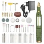 Electric Drill Grinding Milling Engraving Polishing Tools Mini Multi-functional Variable Speed Rotary Tool and Accessories Kit – EU Plug / Army Green