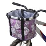 Bicycle Bike Detachable Cycle Front Canvas Basket Carrier Bag Pet Carrier Pet Carrier – Purple