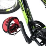 1 Pcs Fixed Gear Fixie BMX Bike Bicycle Anti-slip Double Adhesive Straps Pedal Toe Clip Strap Belt – Red