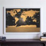 Interactive Vacation Poster World Travel Map Scratch Off Map – Size: S (42 x 30cm)