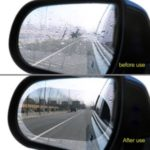 2PCS Car Rearview Mirror Protective Film Rear View Mirror Protective Soft Membrane Anti Fog Window Clear Rainproof Film