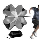 Running Speed Training Resistance Parachute for Sprint Chute Soccer Football Sport – Black