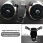 Horizontal and Vertical Mobile Phone Bracket Phone Car Holder 360 Degrees Rotation Stand for Audi A1/S1 – Black