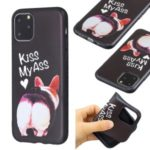 Pattern Printing Embossed TPU Case Covering for iPhone 11 Pro 5.8 inch – Kiss My Ass