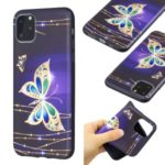 Pattern Printing Embossed TPU Case for iPhone 11 Pro Max 6.5 inch (2019) – Colorized Butterfly