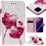 Light Spot Decor Pattern Printing Leather Phone Cover Wallet  for Apple iPhone 11 Pro 5.8 inch – Lotus