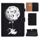 Pattern Printing Card Slots Flip Leather Case with Pen Slot for iPad Pro 10.5-inch (2017)/(2018) – Astronaut