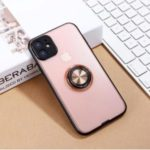 Shiny Series PC+TPU Hybrid Finger Ring Phone Cover for Apple iPhone 11 6.1 inch – Pink