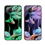 Luminous Tempered Glass PC + TPU Phone Cover for iPhone 11 Pro 5.8-inch – Fish