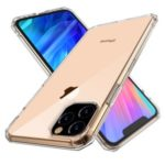 LEEU DESIGN 6D Sound Switching TPU Back Cover Shell for iPhone 11 Pro 5.8 inch – Transparent
