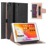 WY-2099 Leather Stand Card Slots Tablet Case with Elastic Band and Hand Strap for iPad 10.1 (2019) – Black