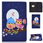 Pattern Printing Leather Stand Case for Samsung Galaxy Tab A 8.0 (2019) SM-T290 SM-T295 – Owls and Hearts
