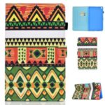 Pattern Printing Leather Card Holder Tablet Shell for Samsung Galaxy Tab S5e SM-T720 – Geometric Patterns