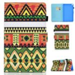 Pattern Printing Card Slots Leather Stand Cover for Samsung Galaxy Tab A 8.0 Wi-Fi (2019) SM-T290 – Triangle