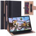 Leather Stand Card Holder Tablet Case for Samsung Samsung Galaxy Tab S6  T860 T865 – Black