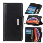 Glossy PU Leather Wallet Case for Samsung Galaxy A90 5G – Black