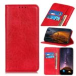 Auto-absorbed Crazy Horse Texture Wallet Leather Phone Case for Samsung Galaxy A90 5G – Red