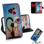 Pattern Printing Wallet Stand Leather Flip Case for Samsung Galaxy M30s – Cat and Heart