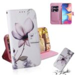 Pattern Printing Leather Wallet Case for Samsung Galaxy M30s – Beautiful Flowers