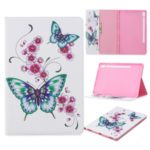 Pattern Printing Wallet Stand Leather Tablet Shell for Samsung Galaxy Tab S6 T860 – Butterflies and Flowers