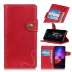 Cowhide Texture S-shape Leather Stand Wallet Shell for Samsung Galaxy A90 5G – Red