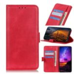 Litchi Skin Wallet Stand Leather Mobile Shell for Huawei Mate 30 – Red