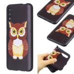Pattern Printing Embossed TPU Case for Huawei Honor 9X / 9X Pro – Brown Owl