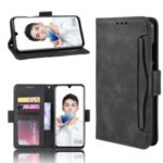 Leather with Card Slots Stand Wallet Shell Casing for Huawei Honor 10 Lite /  P Smart (2019) / Nova Lite 3 – Black