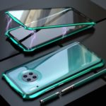 Bat Series Full Covering Magnetic Metal Frame + Tempered Glass Phone Cover for Huawei Mate 30 – Green