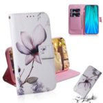 Pattern Printing Leather Wallet Stand Case for Xiaomi Redmi Note 8 Pro – Beautiful Flowers