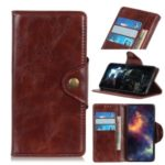 For Xiaomi Redmi Note 8 Phone Case PU Leather Wallet Stand Case – Coffee