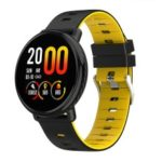 1.3 inch Smart Watch Heart Rate Monitor Bluetooth Smart Bracelet Digital Clock for Android IOS – Yellow
