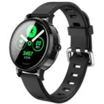 S9 IPS Color Screen Girl Woman Lady Waterproof Heart Rate Monitoring Sport Smart Watch [Silicone Watchband] – Black