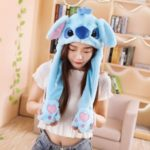 Cute Animal Shape Airbag Hat with Jumpping Ears – Blue