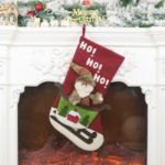 Sock Christmas Gift Christmas Tree Candy Ornament Gifts Decorations – Santa Claus