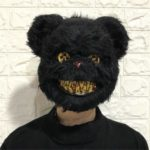 Halloween Costume Ball Mask Clown Face Mask Full Face Halloween Monster Latex Head Mask – Black Bear