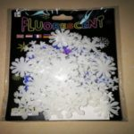 One Pack Christmas Elements 3D Luminous Snowflake Fluorescent Wall Sticker – White